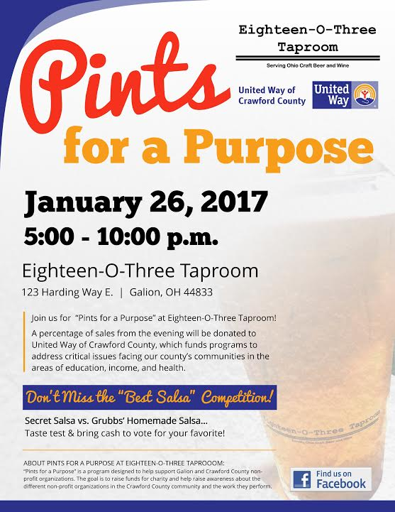 Pints For A Purpose To Team Up With United Way Of Crawford
