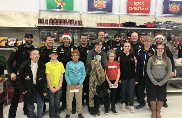 100+ Northwest Missouri Kids Participate in Shop with a Cop Program